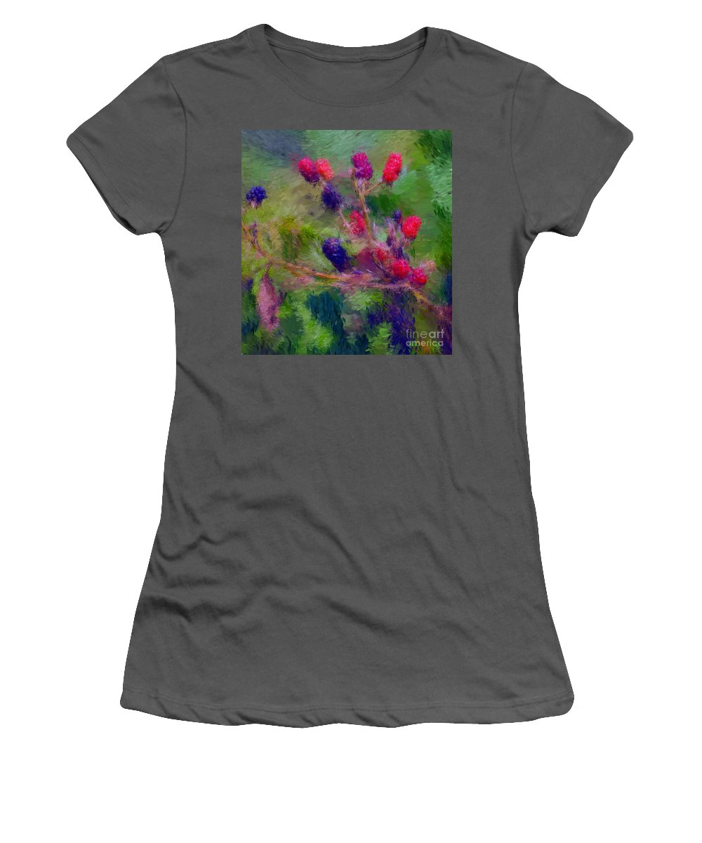 Nature Women's T-Shirt (Athletic Fit) featuring the photograph Bear Fodder by David Lane