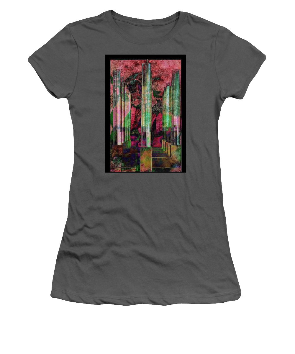 Beyonce Pattern Women's T-Shirt (Athletic Fit) featuring the digital art Godawful by Ryan Releford