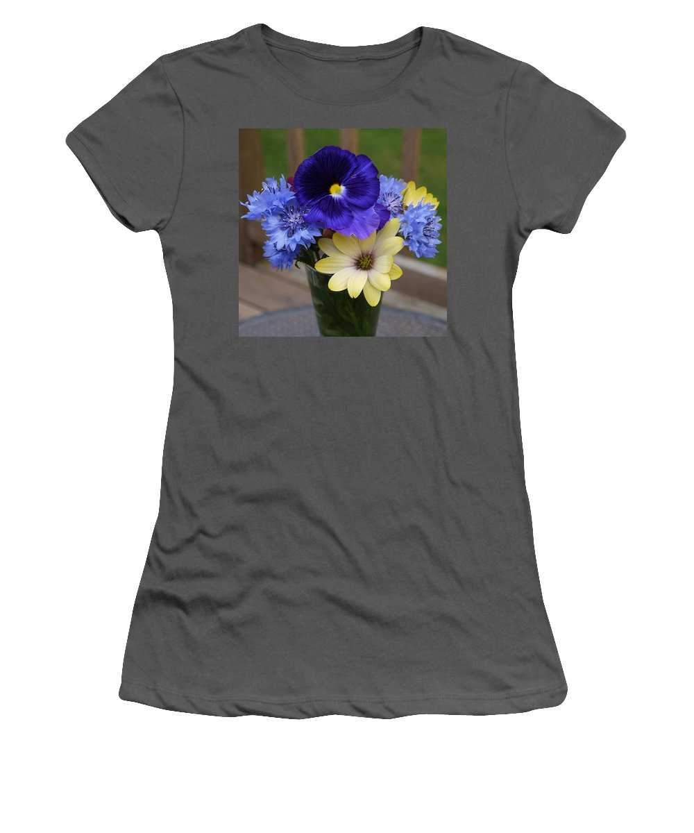 Flowers Women's T-Shirt (Athletic Fit) featuring the photograph Beautiful by Nancie DeMellia