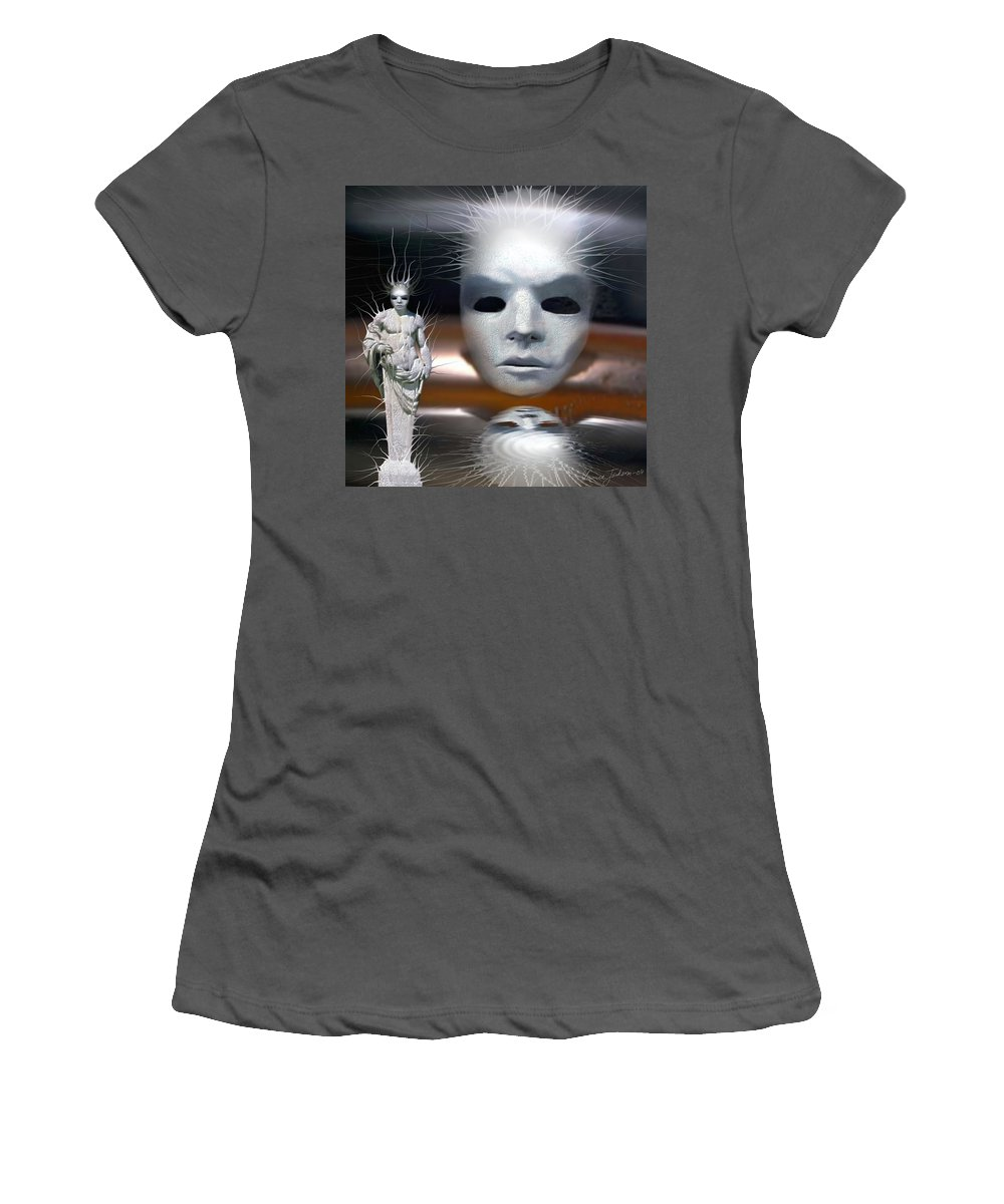 Digital Beauty Eyes Water Women's T-Shirt (Athletic Fit) featuring the digital art Beauty Is Invisible To The Eye. by Veronica Jackson