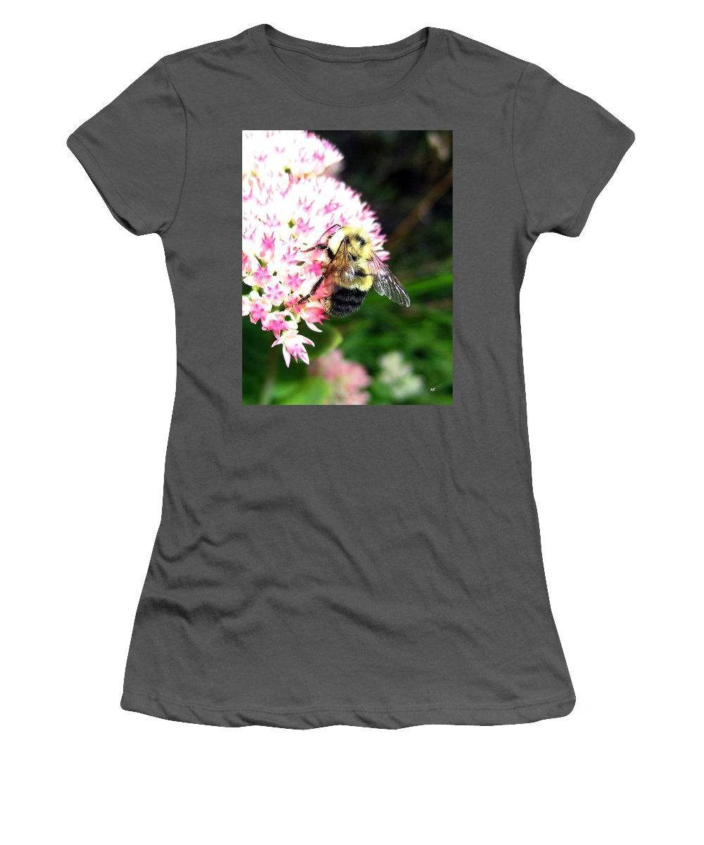 Bee Women's T-Shirt (Athletic Fit) featuring the photograph Bee-line 2 by Will Borden