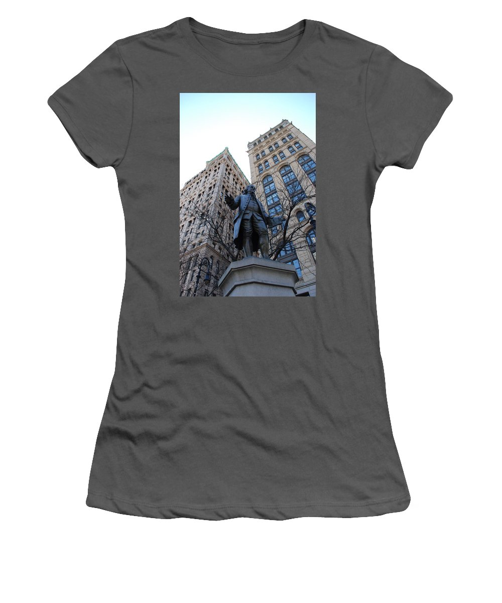 Architecture Women's T-Shirt (Athletic Fit) featuring the photograph Ben Franklin by Rob Hans