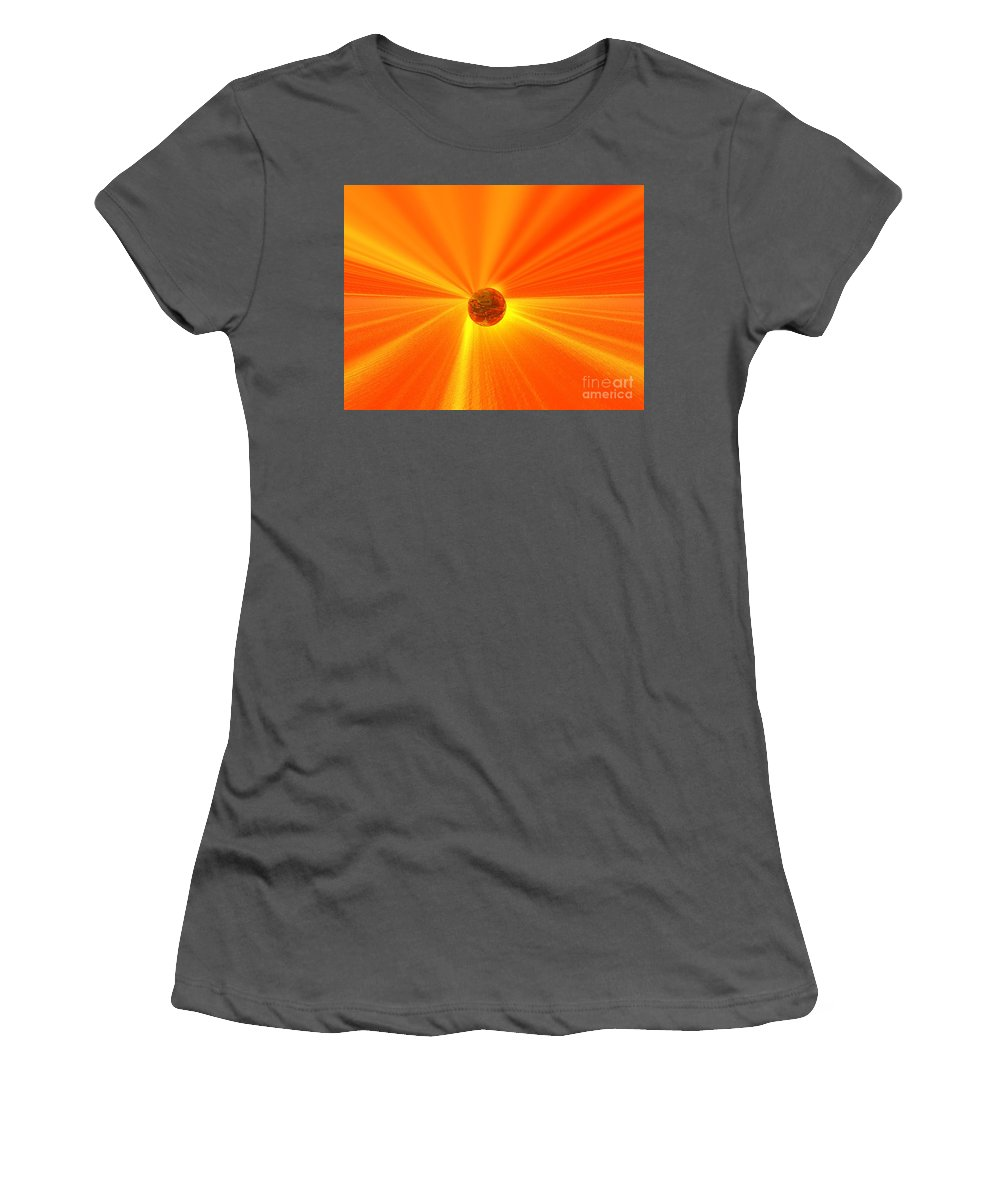 Wisdom Women's T-Shirt (Athletic Fit) featuring the digital art Beyond Wisdom by Oscar Basurto Carbonell