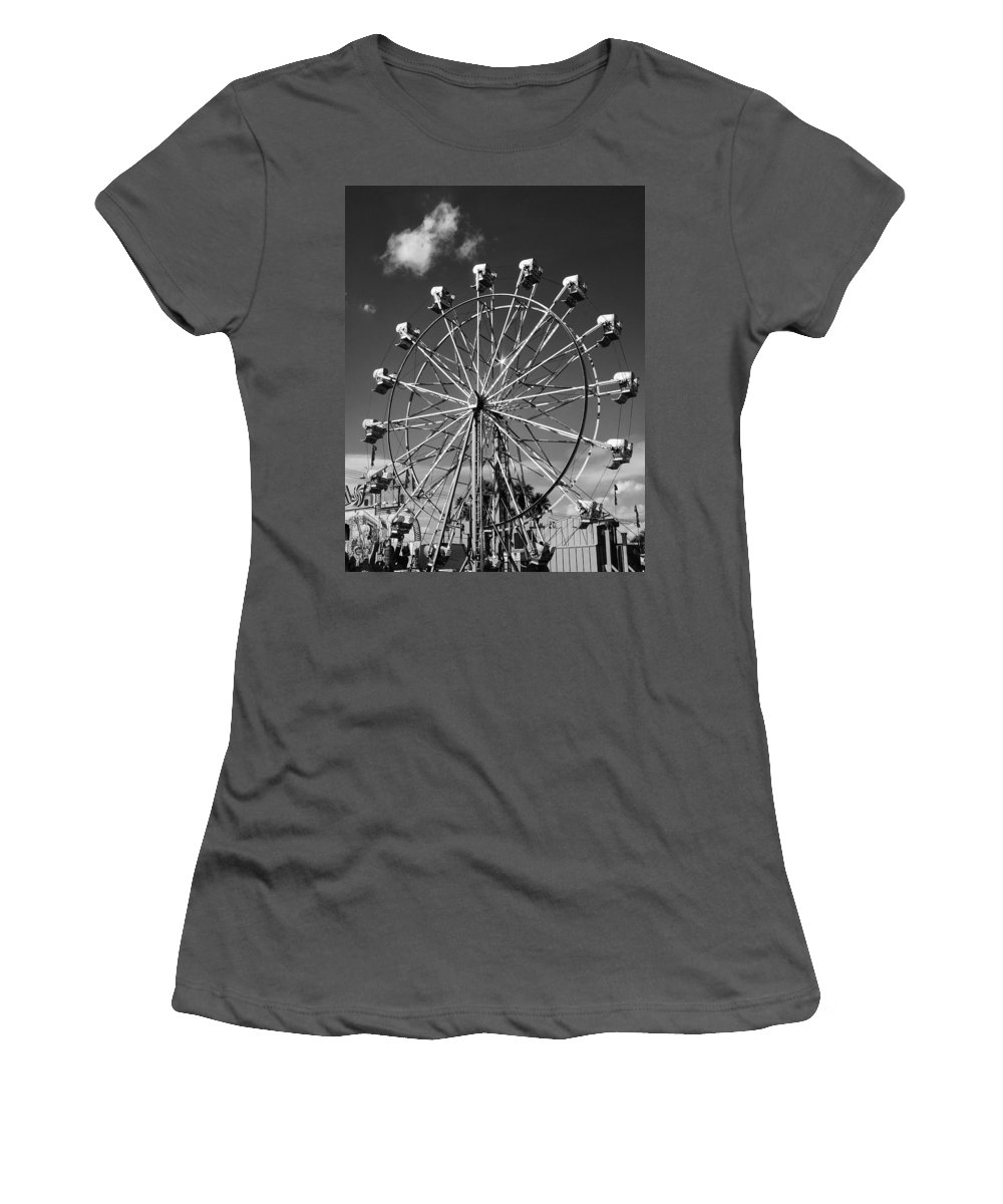 Ferris Wheel Women's T-Shirt (Athletic Fit) featuring the photograph Big Wheel by William Dey