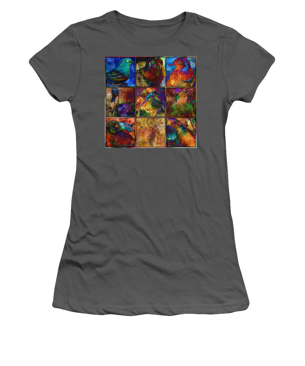 Birds Women's T-Shirt (Athletic Fit) featuring the digital art Birds by Barbara Berney