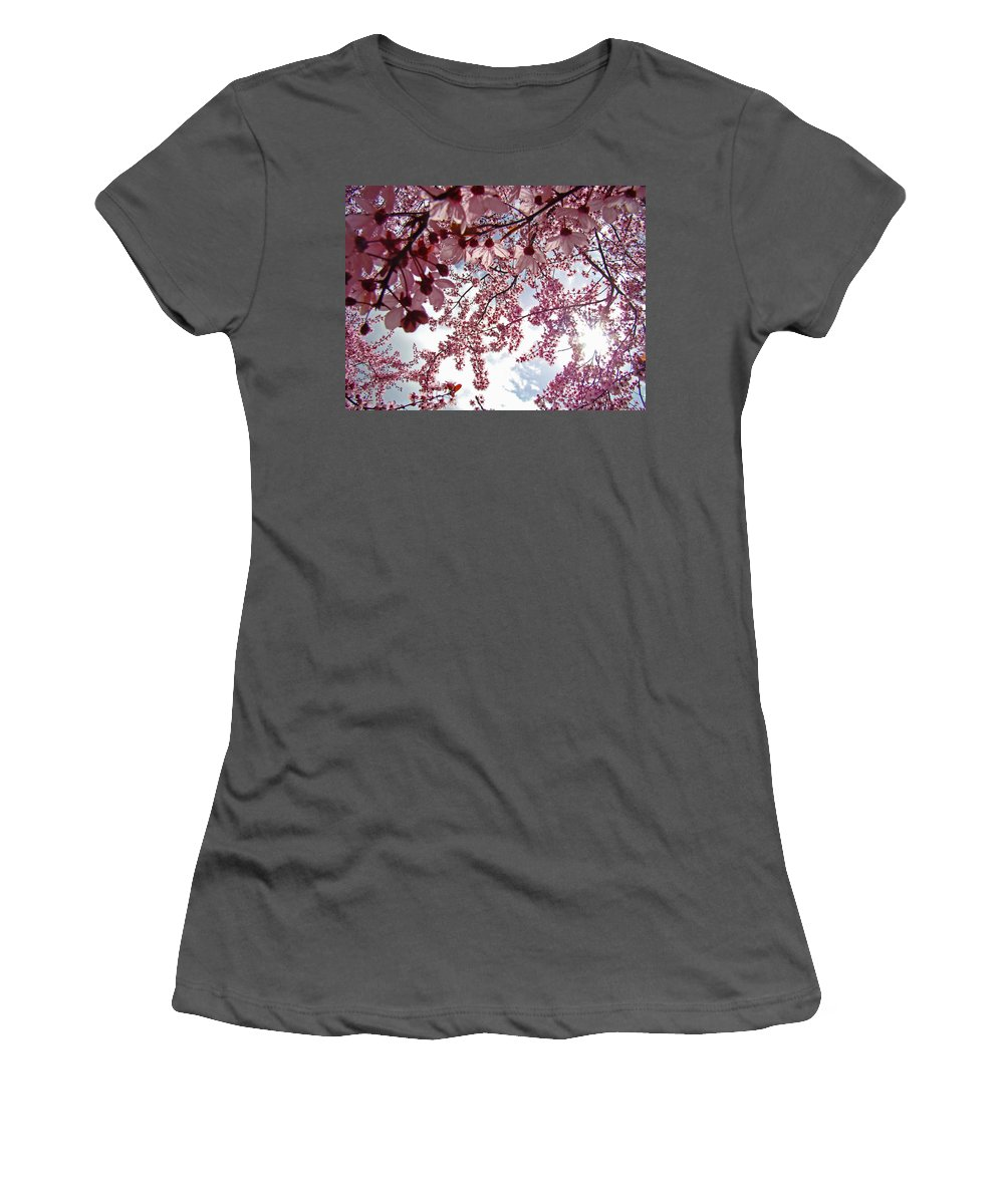 Tree Women's T-Shirt (Athletic Fit) featuring the photograph Blossom Artwork Spring Flowers Art Prints Giclee by Baslee Troutman