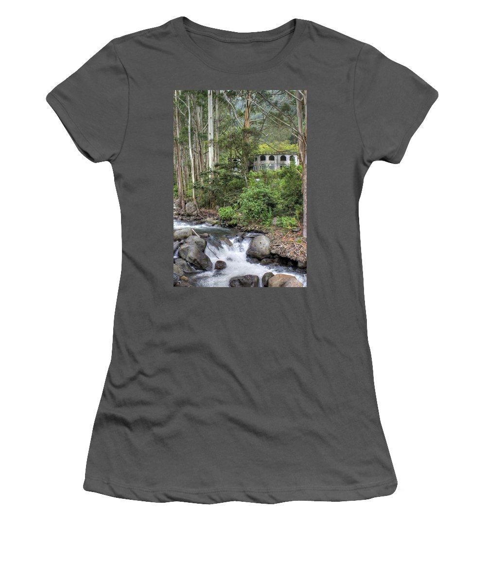 Castle Women's T-Shirt (Athletic Fit) featuring the photograph Boquete Castle by Dolly Sanchez