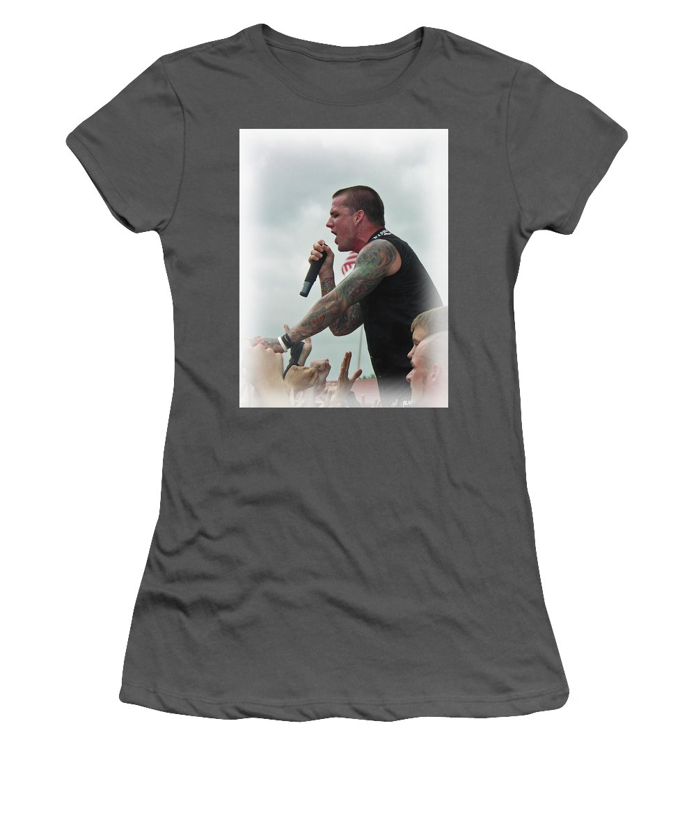 Music Women's T-Shirt (Athletic Fit) featuring the photograph Brandan by Mike Martin