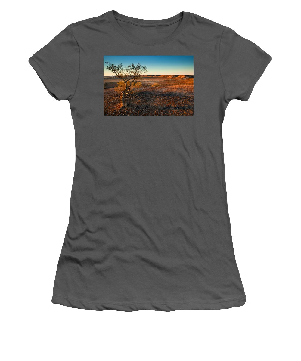 Breakways Women's T-Shirt (Athletic Fit) featuring the photograph Breakaway Dawn by Mike Dawson