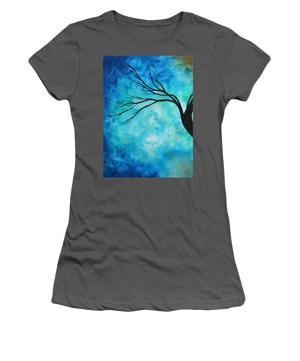 Art Women's T-Shirt (Athletic Fit) featuring the painting Breathless 1 By Madart by Megan Duncanson
