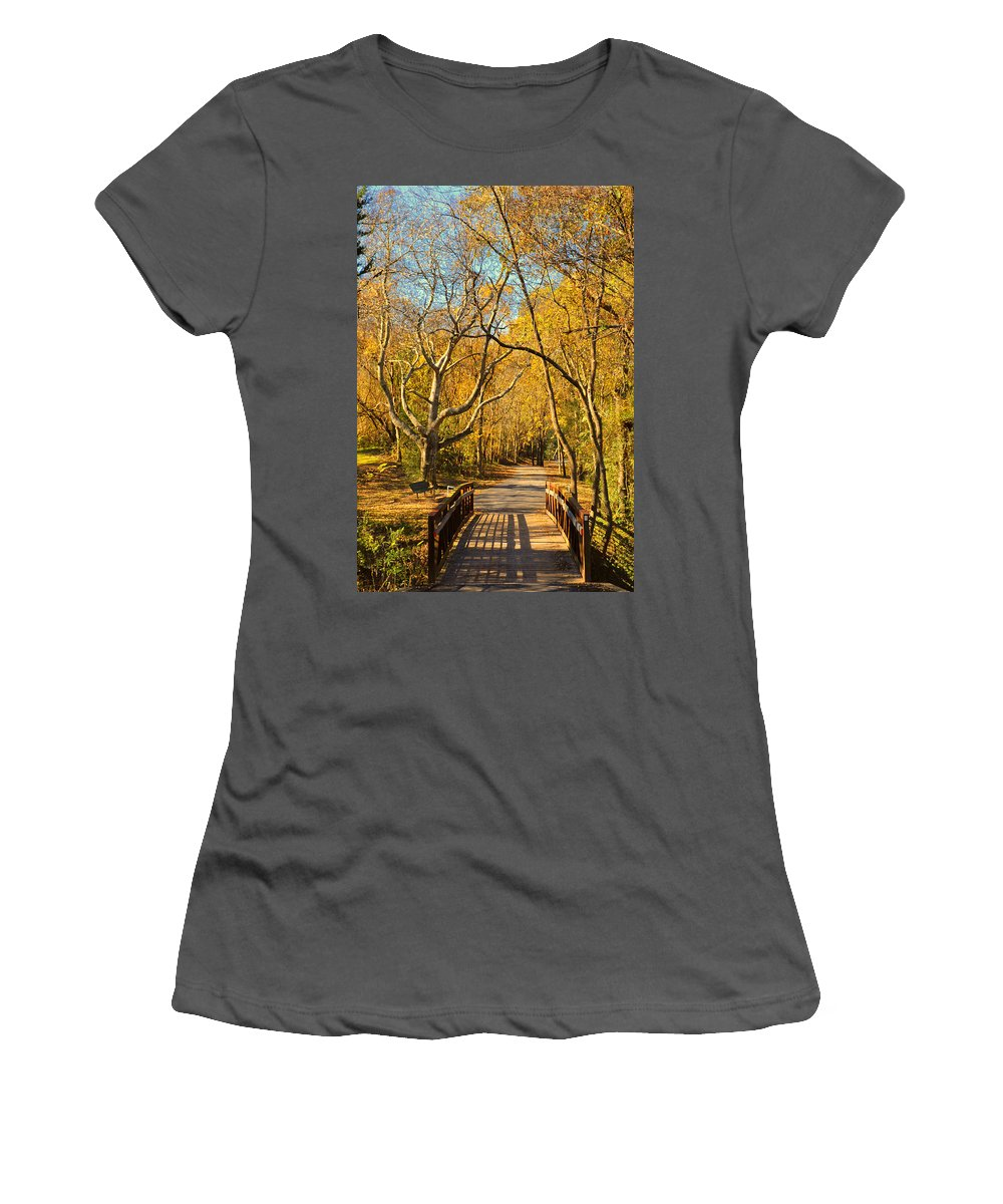 Trail Women's T-Shirt (Athletic Fit) featuring the photograph Bridge Of Sighs by Stephen Anderson