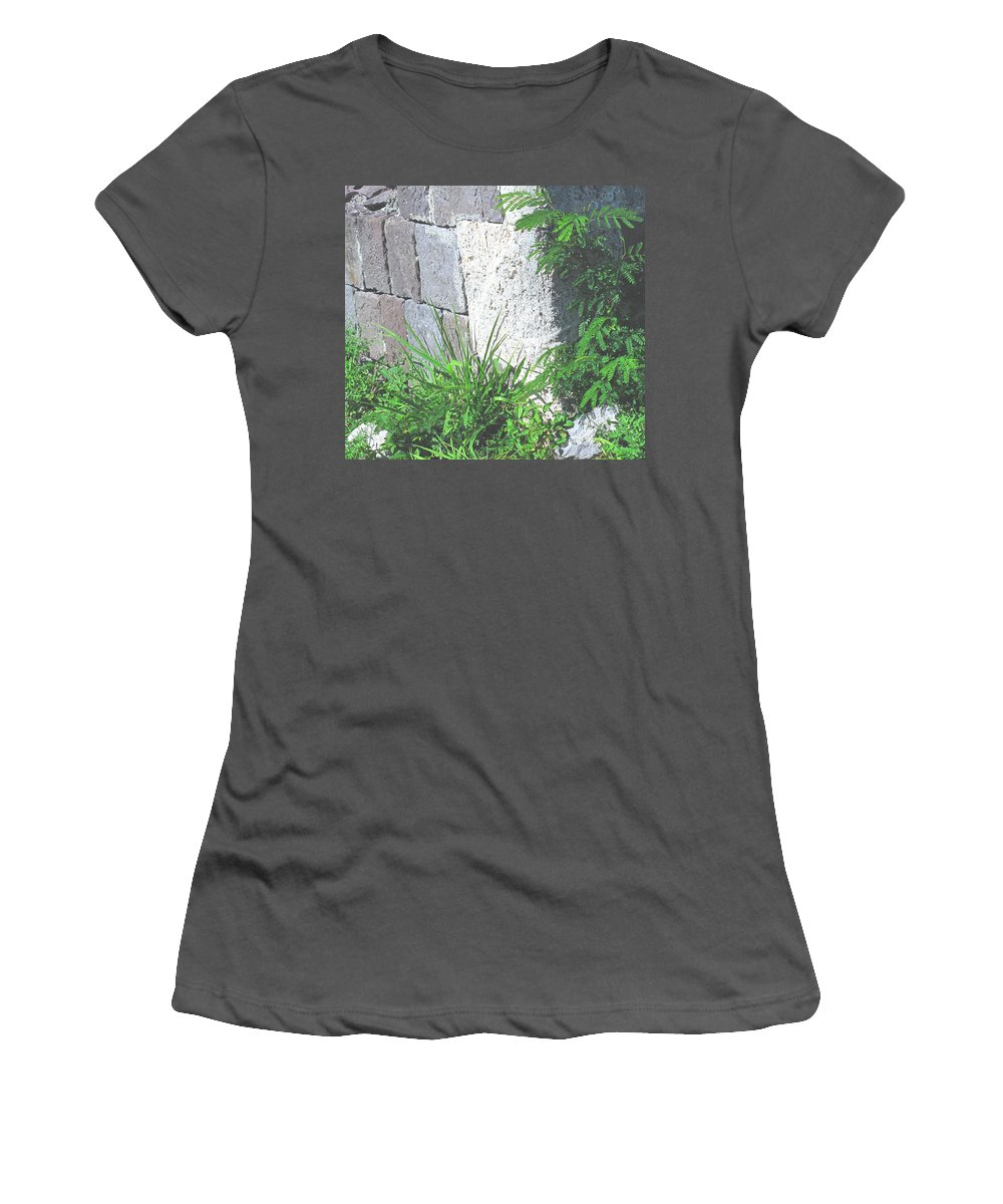 Brimstone Women's T-Shirt (Athletic Fit) featuring the photograph Brimstone Wall by Ian MacDonald