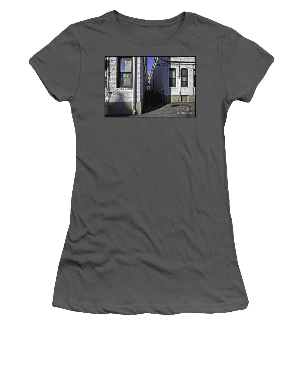 Alley Women's T-Shirt (Athletic Fit) featuring the photograph Brooklyn Alleyway by Madeline Ellis