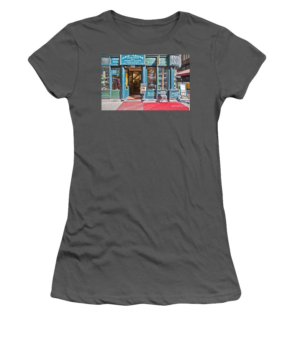 Budapest Women's T-Shirt (Athletic Fit) featuring the photograph Budapest Storefront by Madeline Ellis