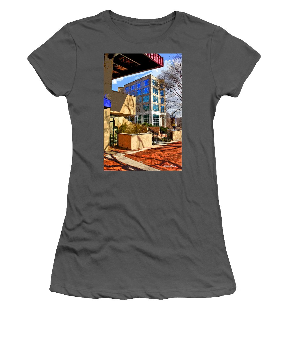Howard County Women's T-Shirt (Athletic Fit) featuring the digital art Business Point Of View by Stephen Younts