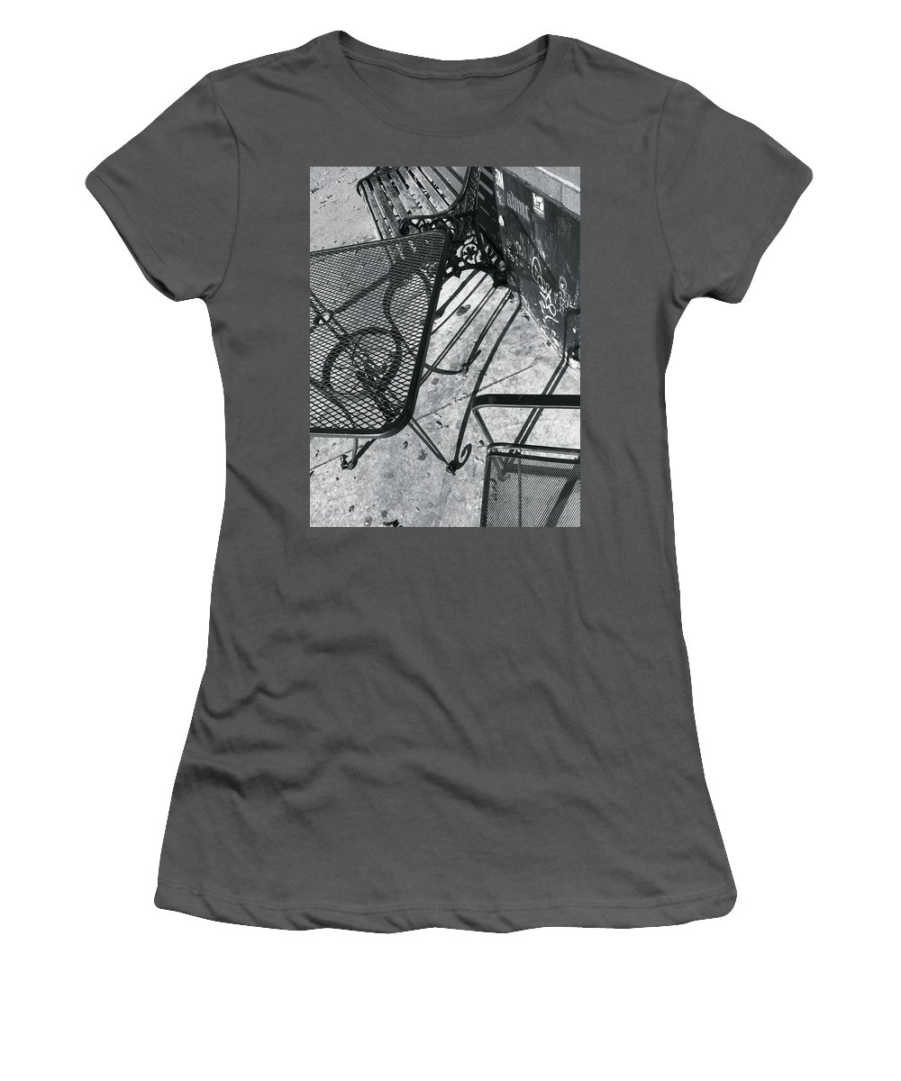Cafes Women's T-Shirt (Athletic Fit) featuring the photograph Cafe 1 by Julian Grant