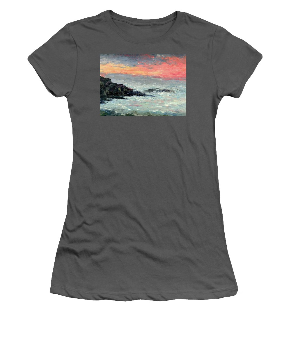 Seascape Women's T-Shirt (Athletic Fit) featuring the painting California Coast by Gail Kirtz