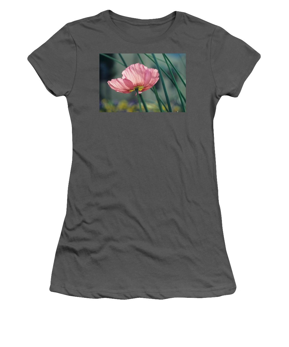 California Poppy Women's T-Shirt (Athletic Fit) featuring the photograph California Poppy by Laurie Paci
