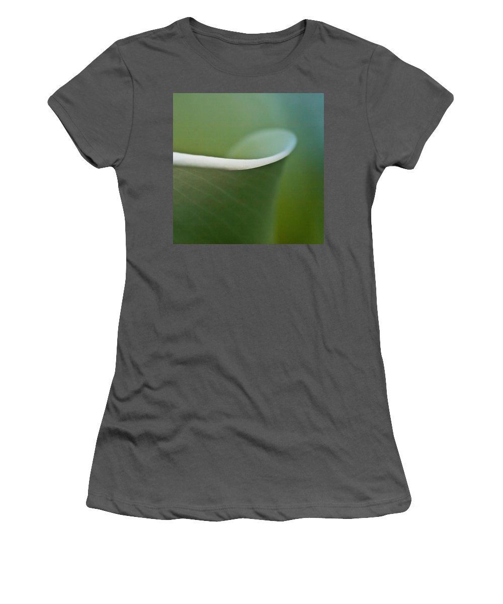 Calla Women's T-Shirt (Athletic Fit) featuring the photograph Calla Details 2 by Heiko Koehrer-Wagner