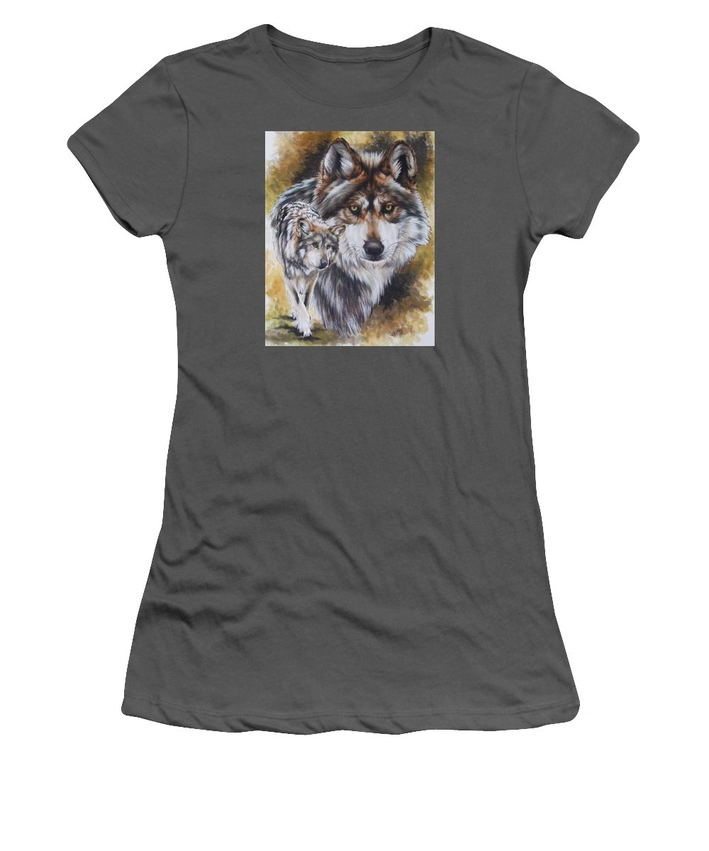 Wildlife Women's T-Shirt (Athletic Fit) featuring the mixed media Callidity by Barbara Keith