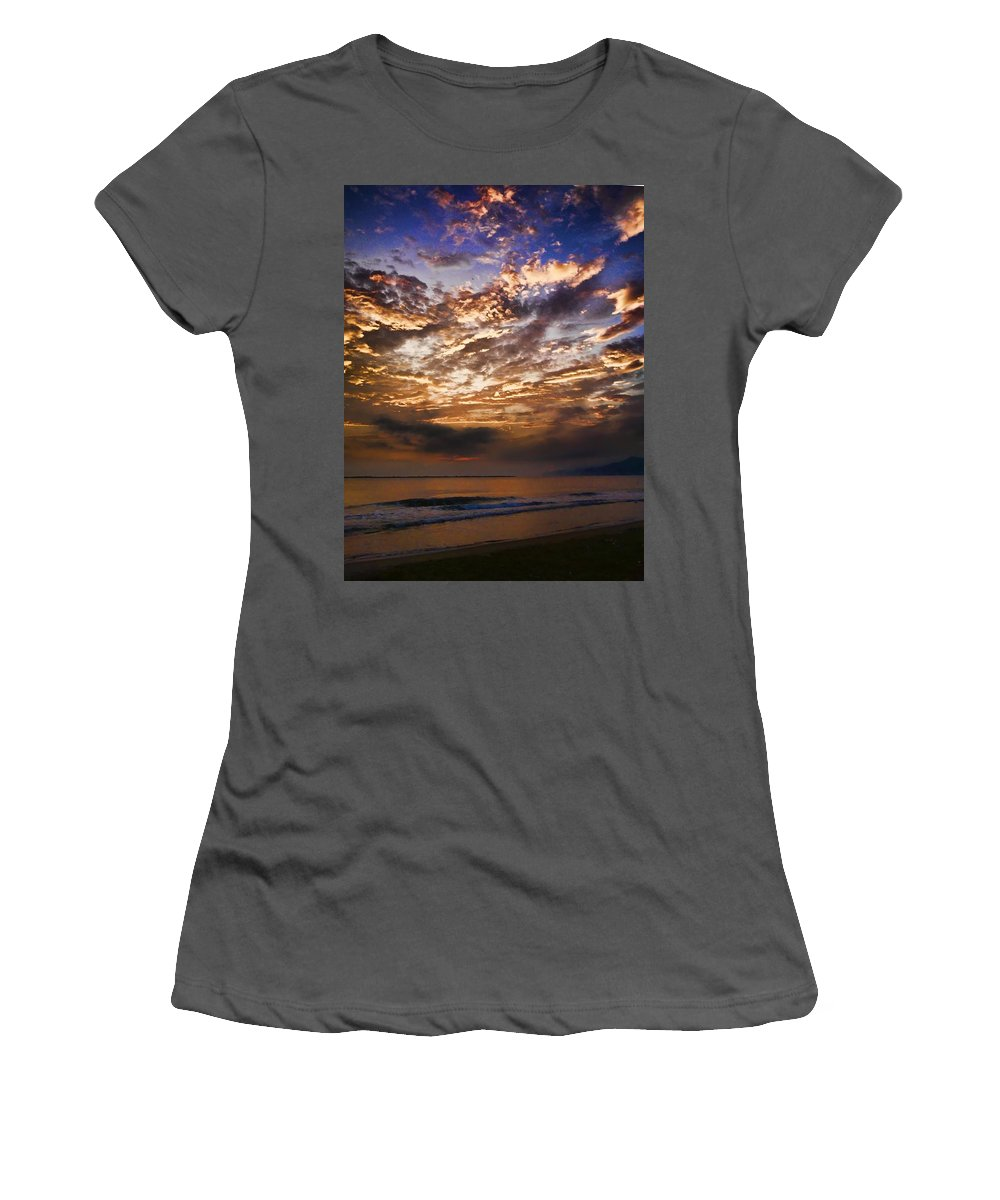 Sea Women's T-Shirt (Athletic Fit) featuring the photograph Caribbean Sunshine by Galeria Trompiz