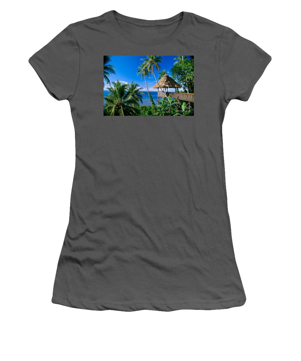 Accommodation Women's T-Shirt (Athletic Fit) featuring the photograph Caroline Islands, Pohnpei by Joe Carini - Printscapes