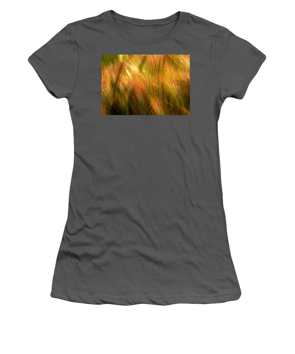 Abstract Women's T-Shirt (Athletic Fit) featuring the photograph Cat Tails by Paul Wear