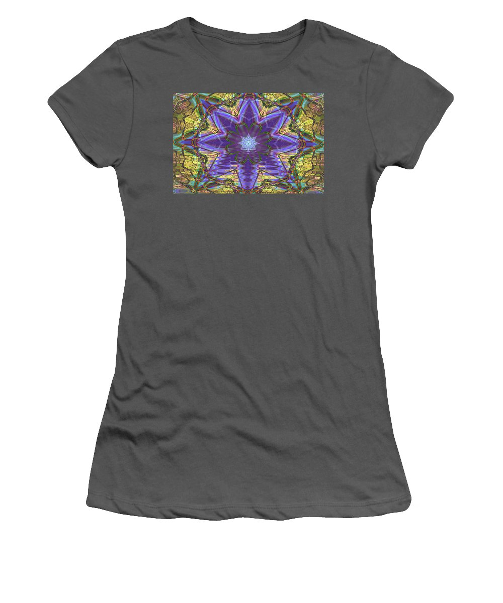 Abstract Women's T-Shirt (Athletic Fit) featuring the digital art Celtic Knot by Frederic Durville