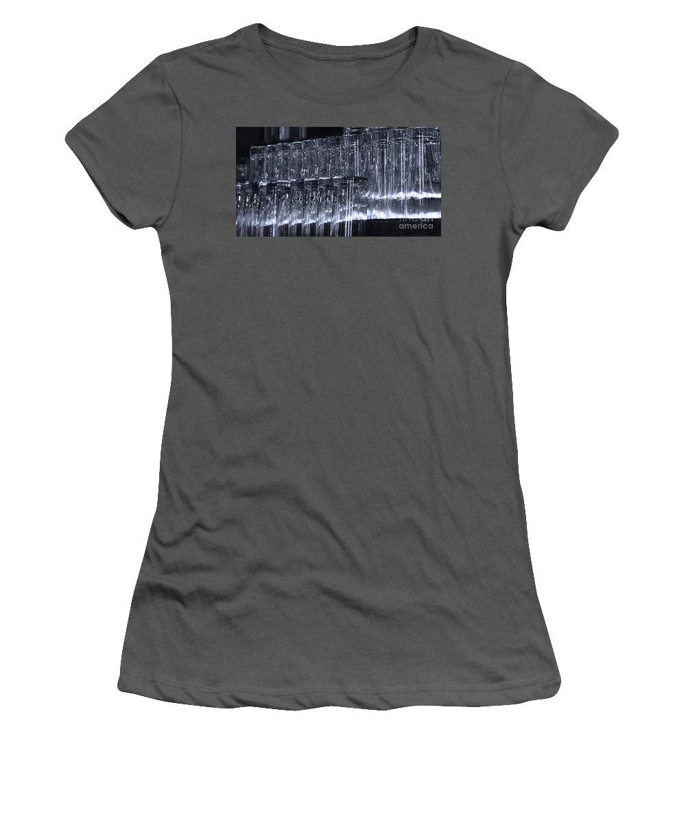 Tombstone Women's T-Shirt (Athletic Fit) featuring the photograph Chasing Waterfalls - Blue by Linda Shafer
