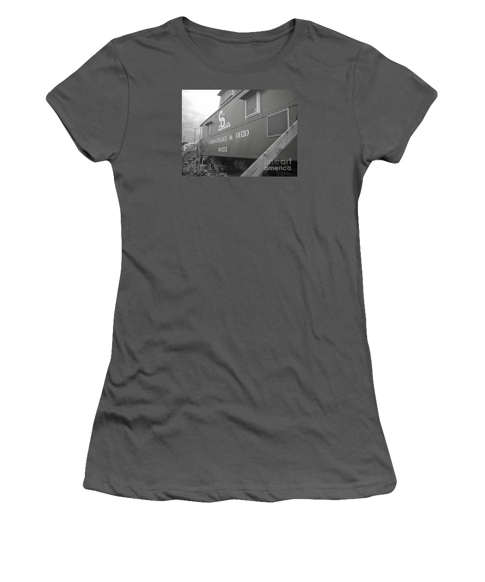 Caboose Women's T-Shirt (Athletic Fit) featuring the photograph Chesapeake And Ohio by Dawn Downour