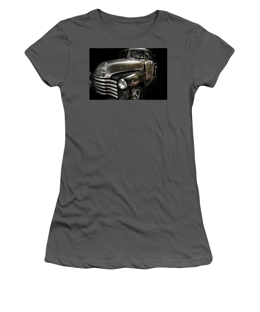 Truck Women's T-Shirt (Athletic Fit) featuring the photograph Chevrolet by Heather Allen