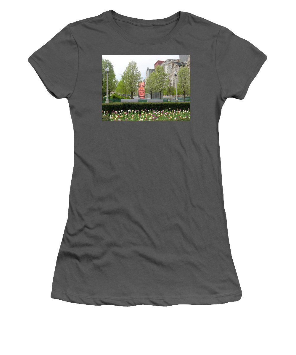 Chicago Women's T-Shirt (Athletic Fit) featuring the photograph Chicago by Jean Macaluso