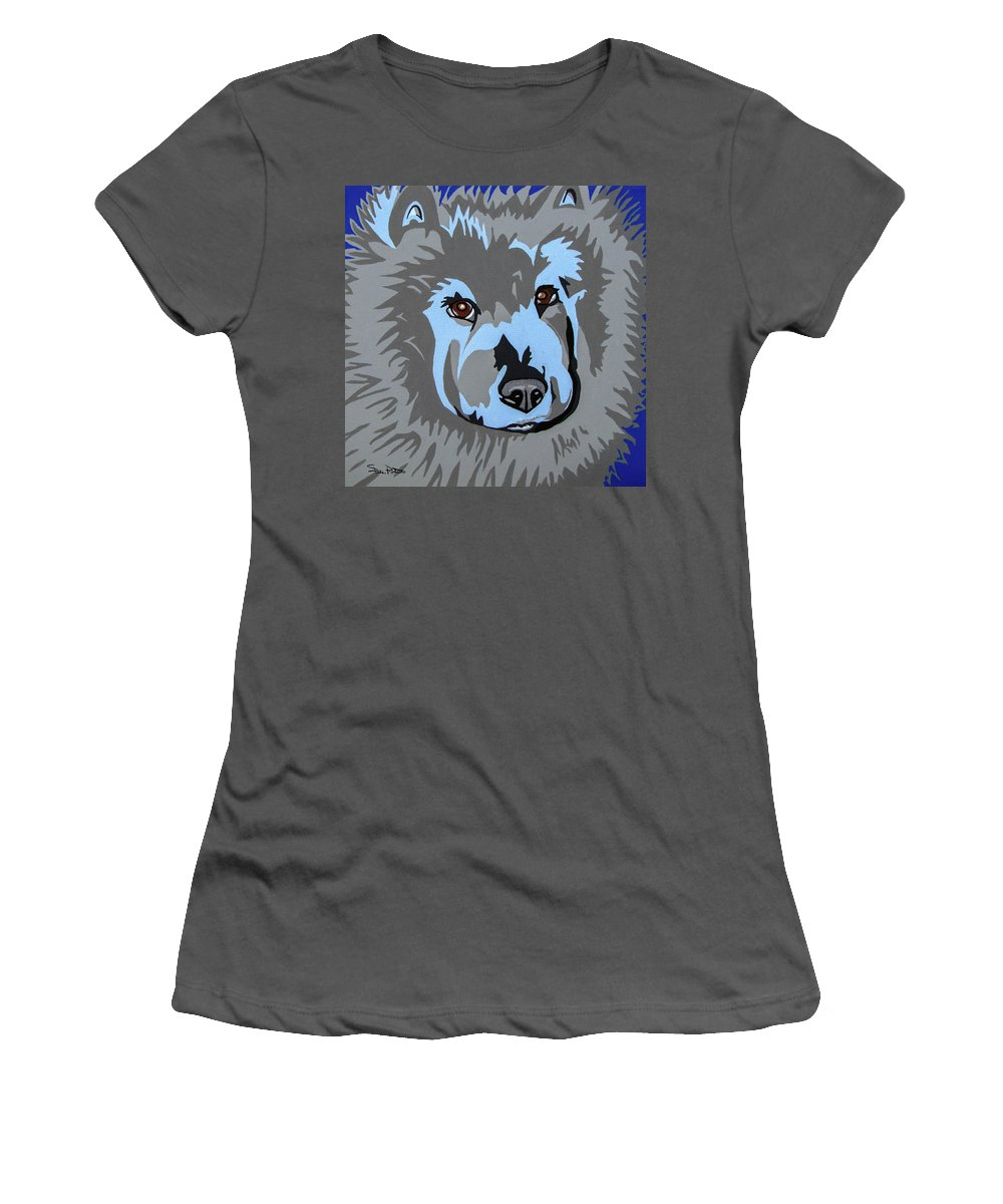 Chow Women's T-Shirt (Athletic Fit) featuring the painting Chow Chow by Slade Roberts