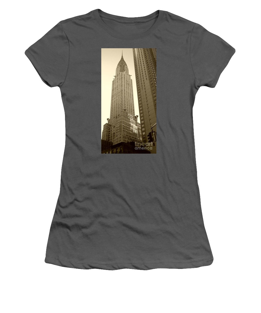New York Women's T-Shirt (Athletic Fit) featuring the photograph Chrysler Building by Debbi Granruth