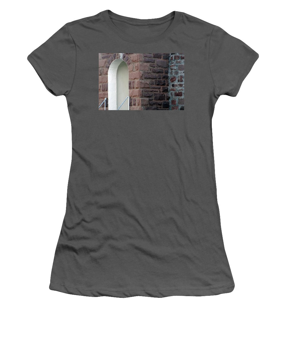 Bricks Women's T-Shirt (Athletic Fit) featuring the photograph Church At Cuervo - New Mexico by D'Arcy Evans