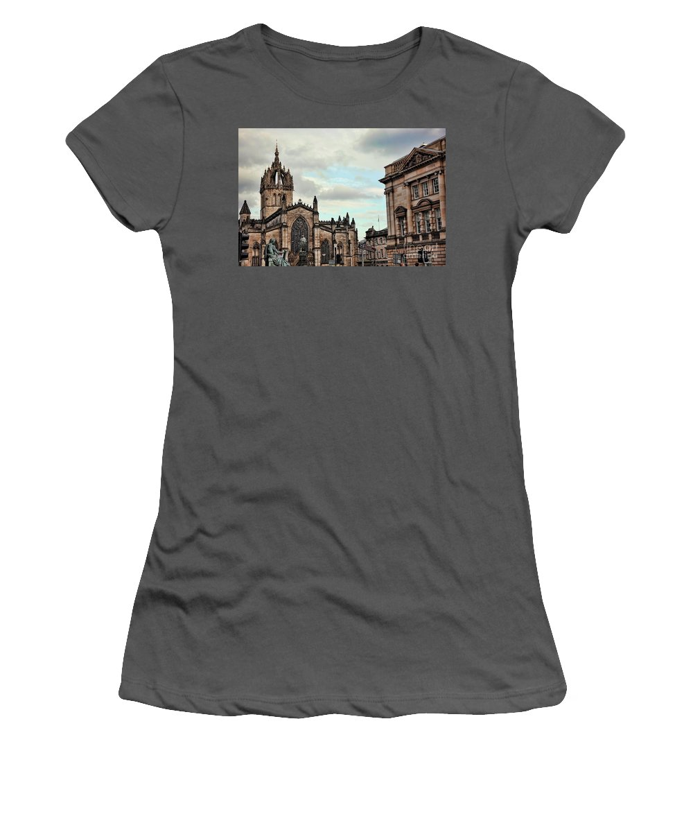 Scotland Women's T-Shirt (Athletic Fit) featuring the photograph Church Edinburgh II by Chuck Kuhn