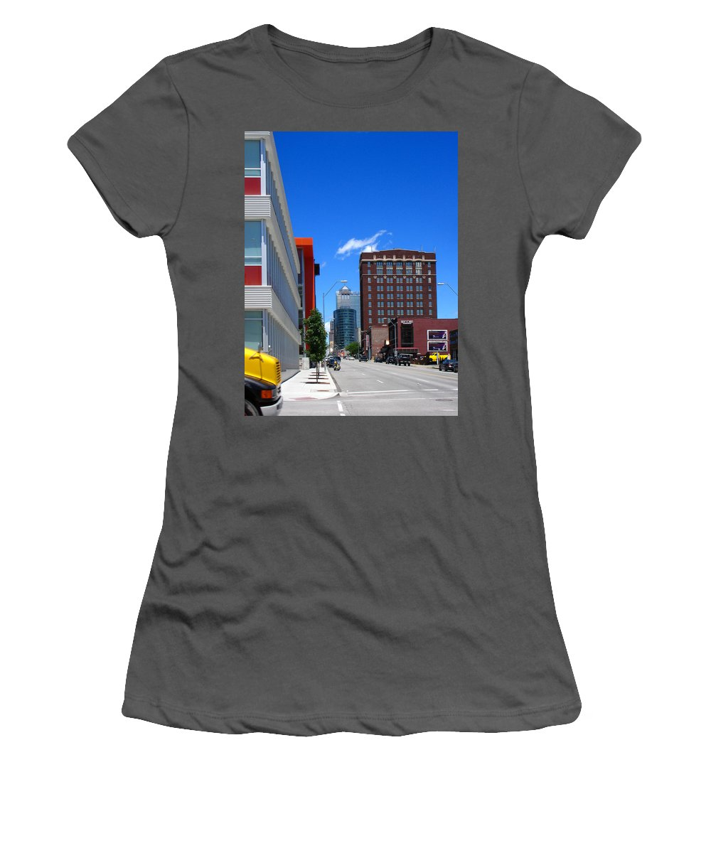 Kansas City Women's T-Shirt (Athletic Fit) featuring the photograph City Street by Steve Karol