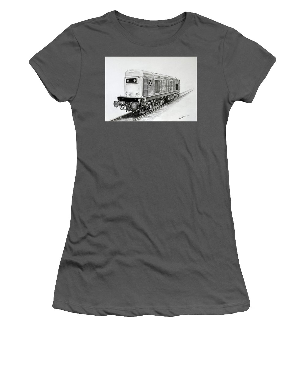 (br) Class 20 Women's T-Shirt (Athletic Fit) featuring the drawing Class 20 205 by Sean Afford