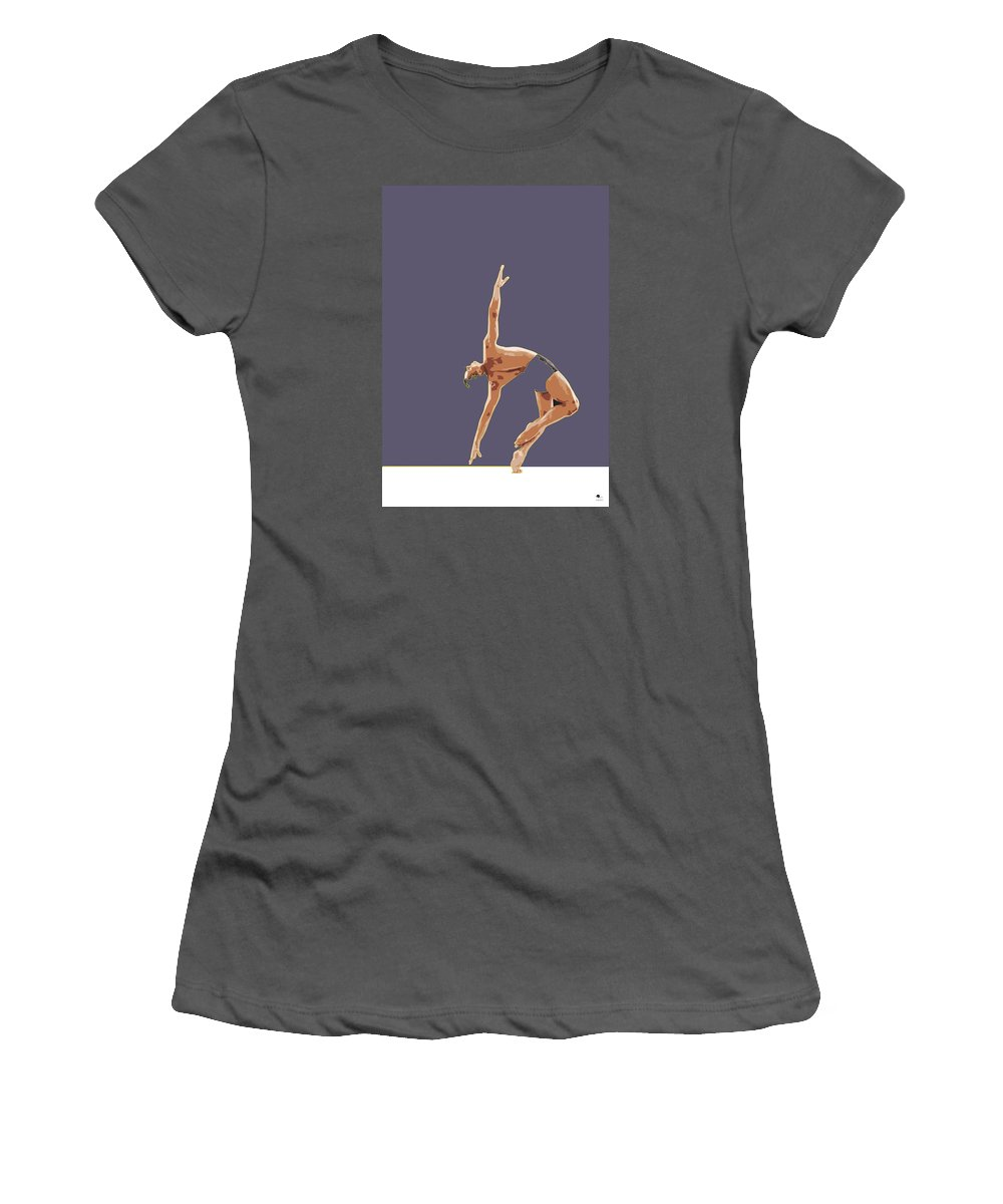 Classical Women's T-Shirt (Athletic Fit) featuring the digital art Classical Ballet Dancer by Joaquin Abella