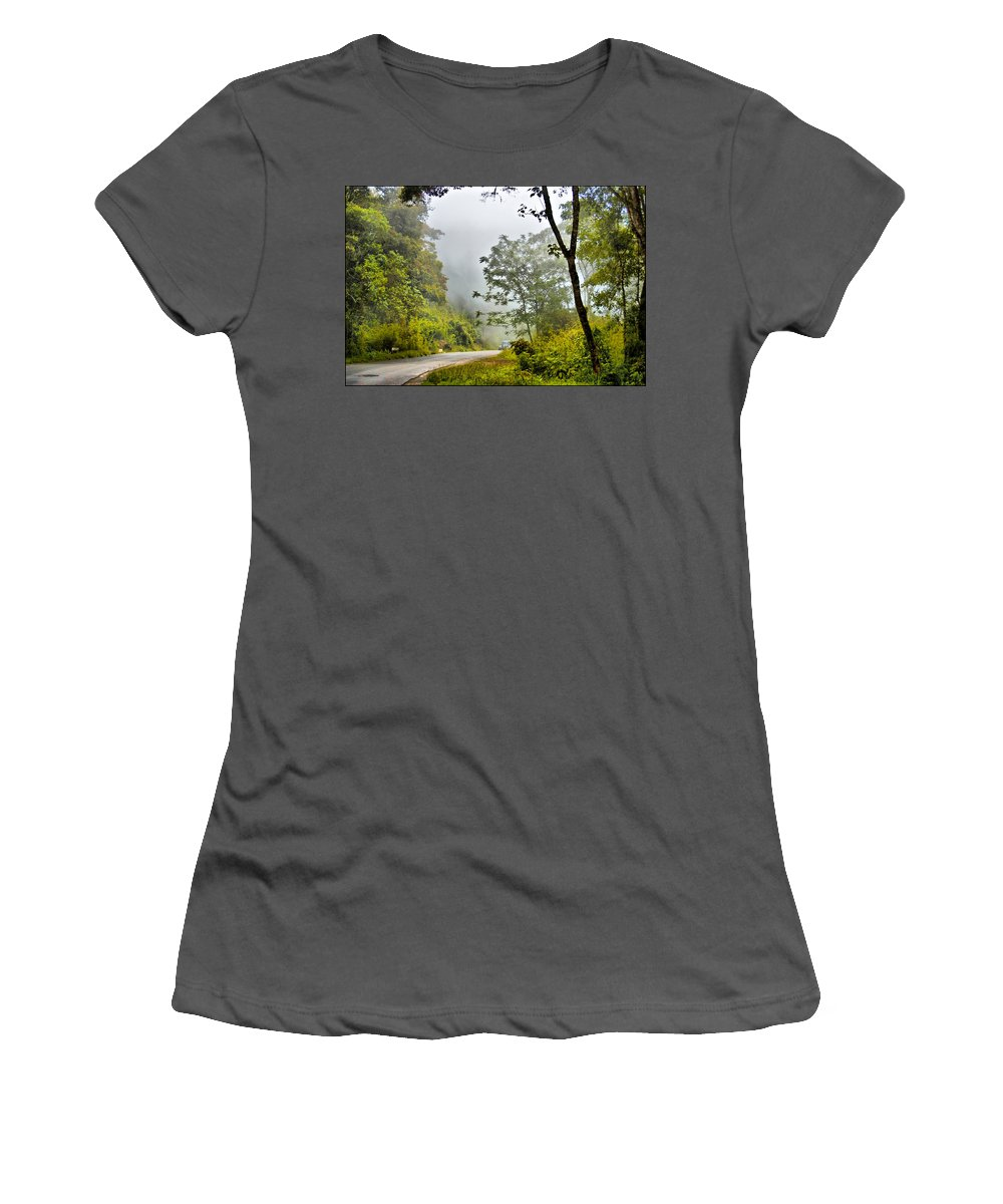 Cloud Forest Women's T-Shirt (Athletic Fit) featuring the photograph Cloud Forest by Galeria Trompiz