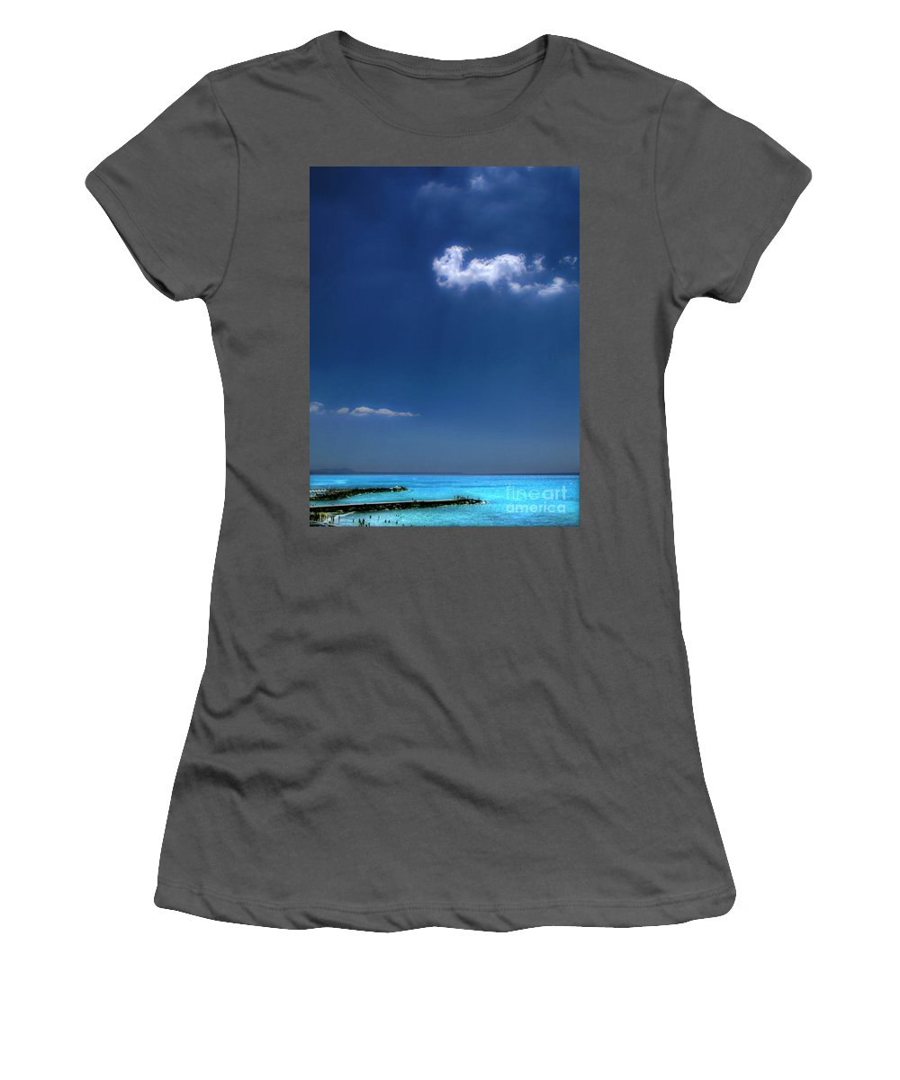 Pier Women's T-Shirt (Athletic Fit) featuring the photograph Cloud Over The Pier by Silvia Ganora