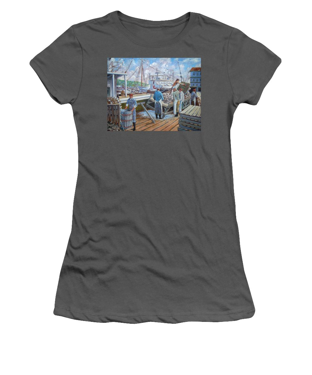 Cod Women's T-Shirt (Athletic Fit) featuring the painting Cod Memories by Richard T Pranke