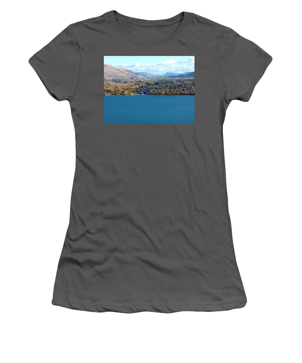 Autumn Women's T-Shirt (Athletic Fit) featuring the photograph Coldstream Valley In Autumn by Will Borden