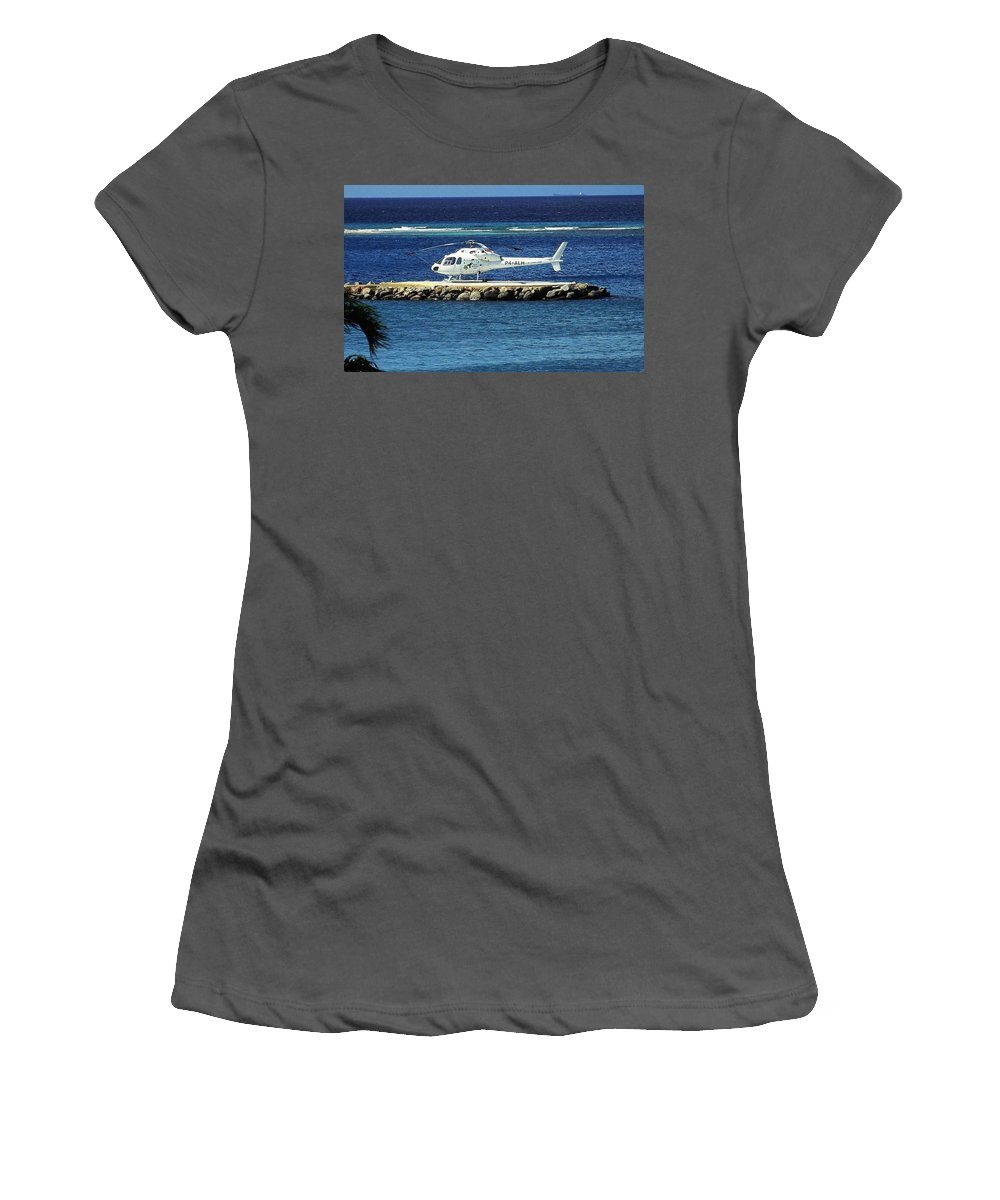 Karibik Women's T-Shirt (Athletic Fit) featuring the photograph Colibri ... by Juergen Weiss