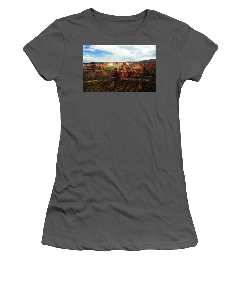 Americana Women's T-Shirt (Athletic Fit) featuring the photograph Colorado National Monument by Marilyn Hunt