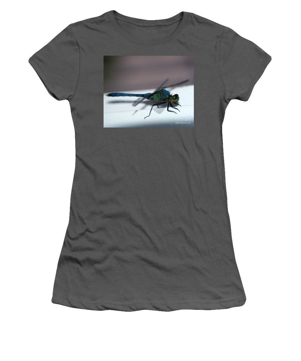 Clay Women's T-Shirt (Athletic Fit) featuring the photograph Colorful Dragon by Clayton Bruster