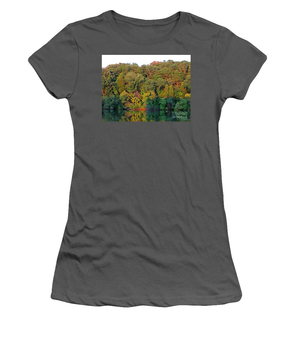 Landscape Women's T-Shirt (Athletic Fit) featuring the photograph Colorful Sunset by Todd Blanchard