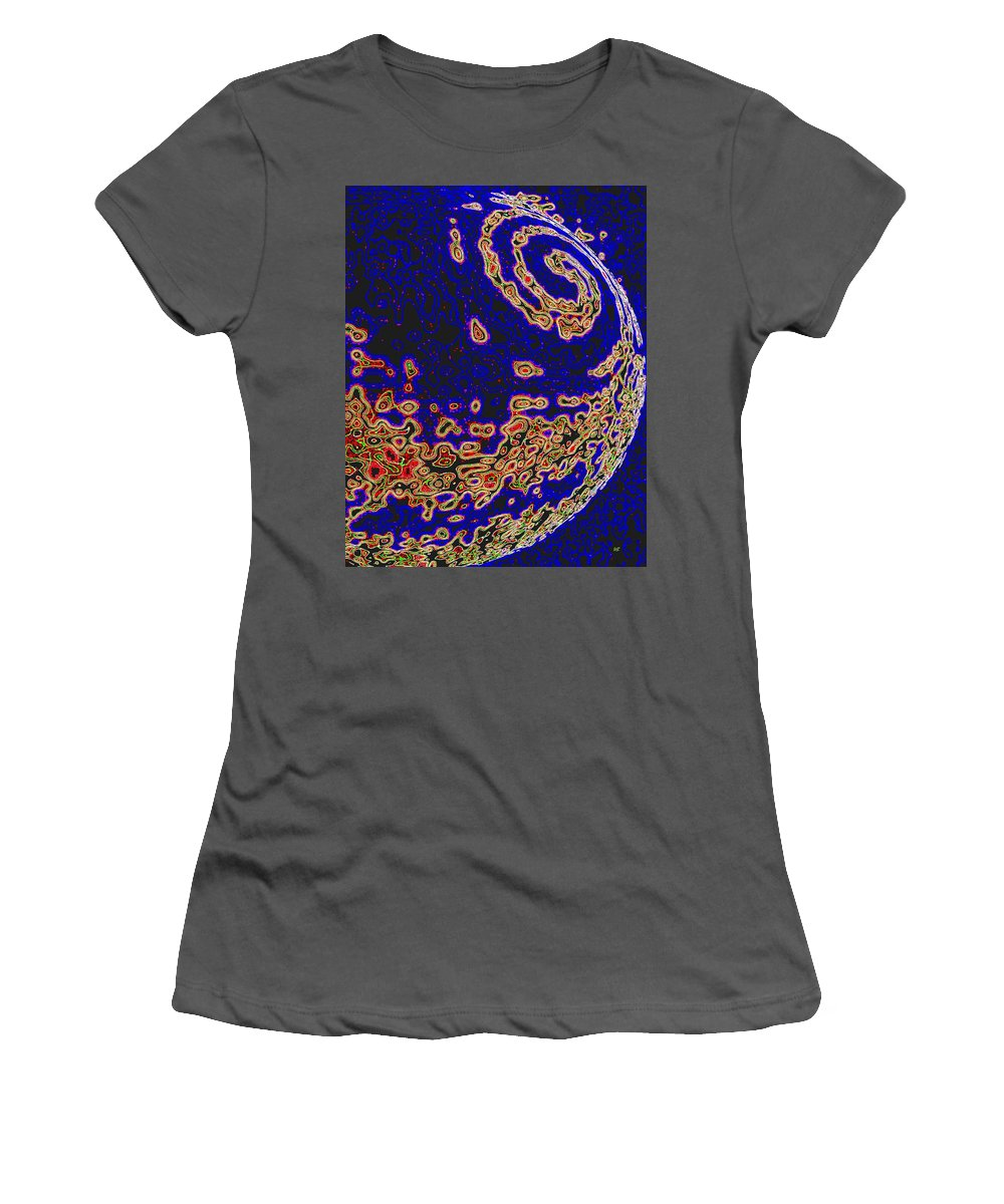 Abstract Women's T-Shirt (Athletic Fit) featuring the digital art Conceptual 9 by Will Borden