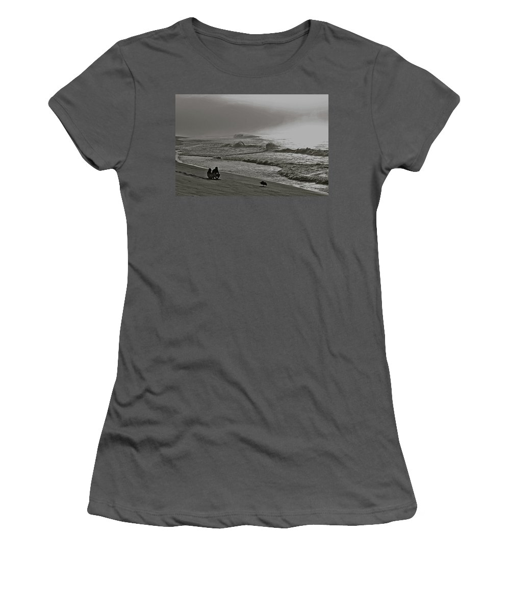 Sea Women's T-Shirt (Athletic Fit) featuring the photograph Contemplation by Diana Hatcher
