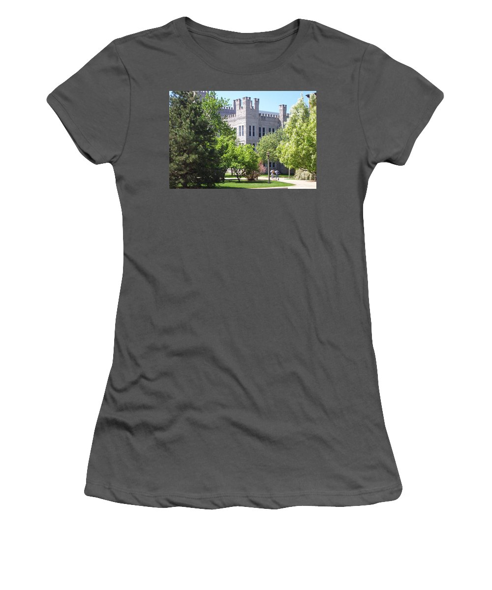 Cook Hall Women's T-Shirt (Athletic Fit) featuring the photograph Cook Hall Illinois State Univerisity by David Vietti